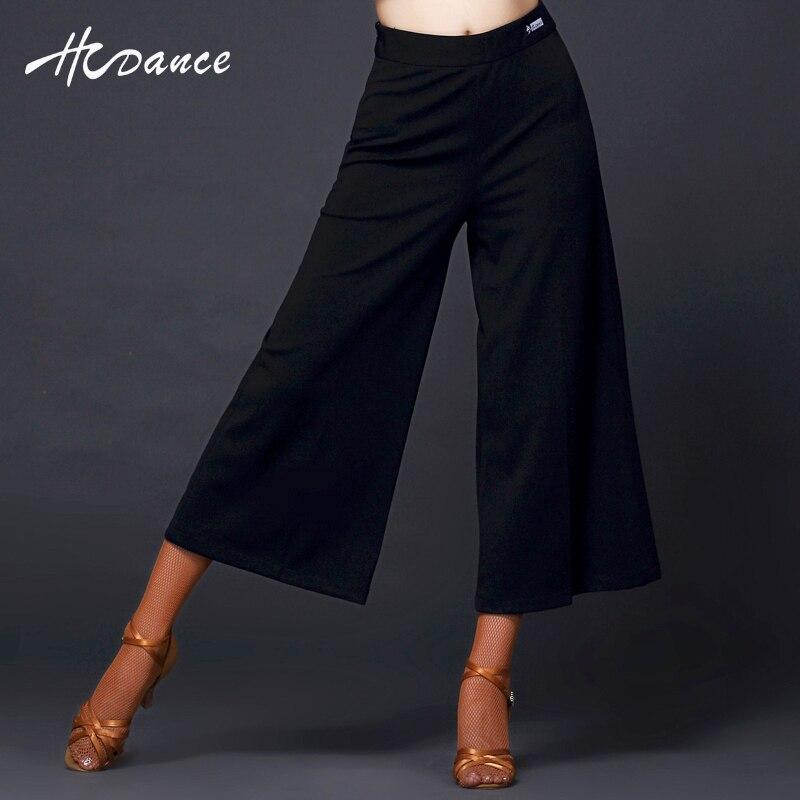 2017 Hcdance Latin dance trousers Women dance costumes Salsa Tango Rumba flamengo Ballroom Long Latintrouser Girl hot sale A255