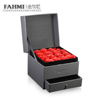 FAHMI New High Quality Jewellery Set Box Boutique Jewelry Gift Box Rose Flower Jewelry Noble Gift Box