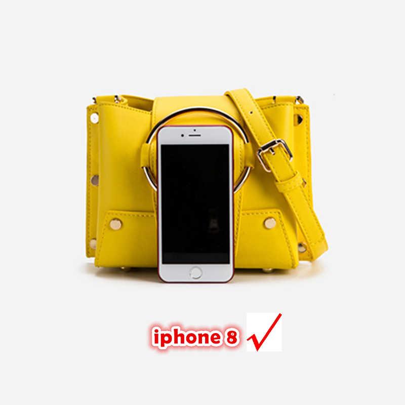 Burminsa летние Карамельный цвет сумки-мессенджеры на цепочке Для женщин небольшой круг кольцо для ключей сумки дизайнерский бренд Высокое качество плеча Crossbody сумка