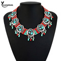 Necklaces & Pendants Brand Arrival Colorful Geometric Statement Charm Statement Ethnic Handmade Collier Women Fashion Jewelry