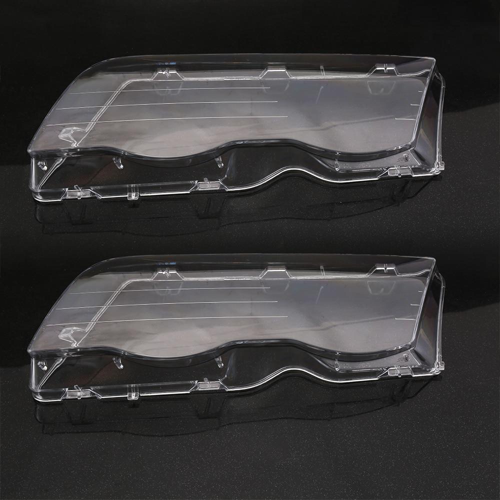 1 Pair Left&Right Headlight Lense Headlamp Lens Clear Lens Car Headlight Cover 4 Doors For BMW E46 3 Series 4DR 1998-01 headlamp polishing paste kit diy headlight restoration for car head lamp lense deep clean compuesto pulidor uv protective liquid
