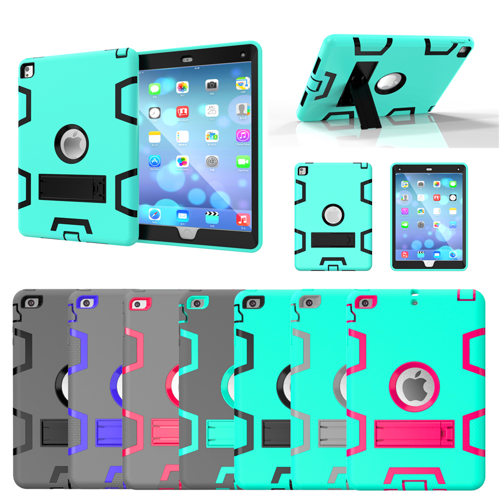 Hybrid Armor Case For iPad Air 2 3 Kids Safe Shockproof Heavy Duty Silicone Hard Case Cover For ipad 7 6 4 3 2 ipad mini 4