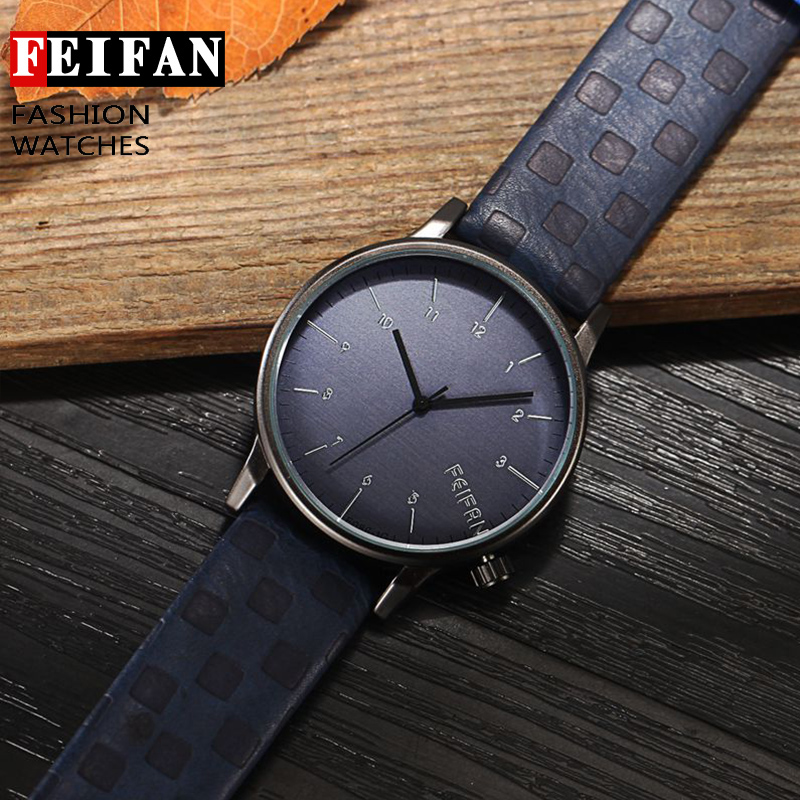 Quartz Watches Men 2016 FEIFAN Brand Luxury Wristwatches Male Clock Leather Wrist Watch Business Fashion Casual Dress Watches