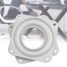 3 дюймов квадратные тарелки для обеденный стол Железный белый установка оборудования подшипник проигрыватель мебель для дома 360 градусов вращающийся