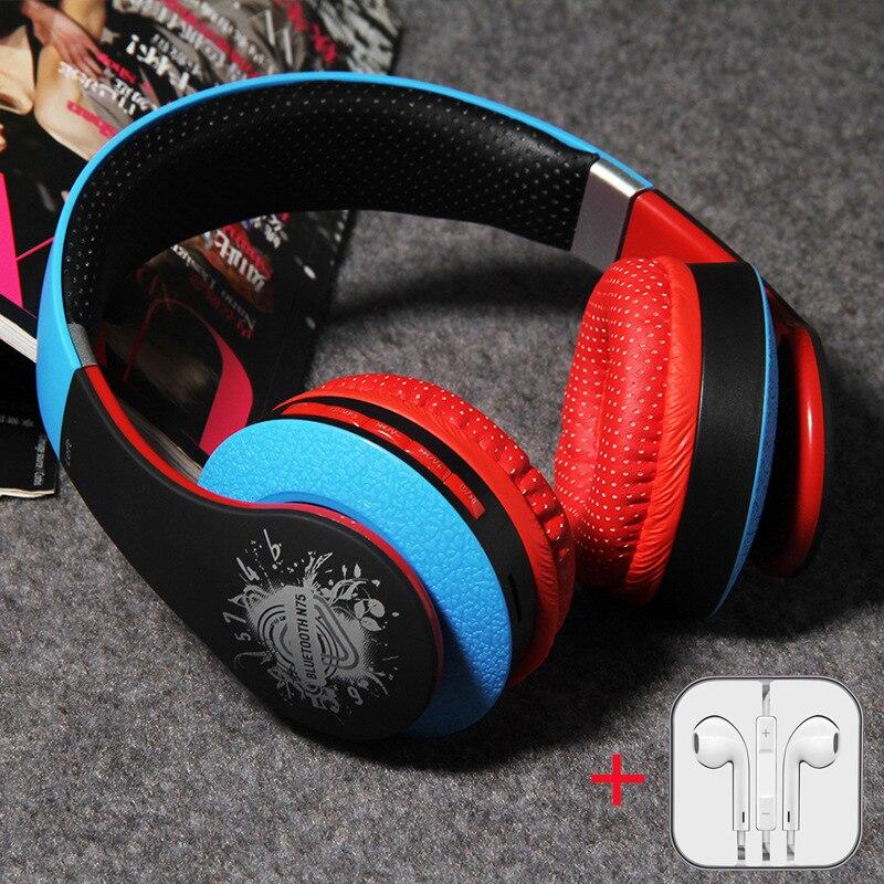 KAPCICE Wireless Headphones Bluetooth Headset TFCard slot Earphone Earbuds Earphones With Microphone For PC mobile phone music in Bluetooth Earphones Headphones from Consumer Electronics