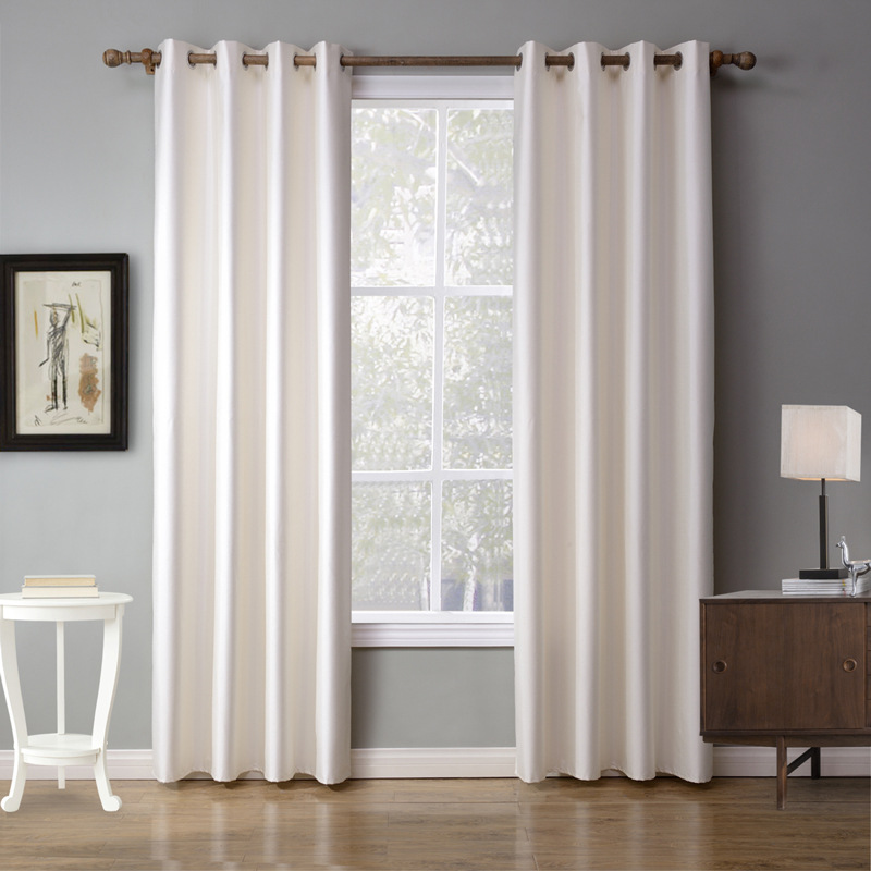 White bedroom curtains for living room Fabric Curtain