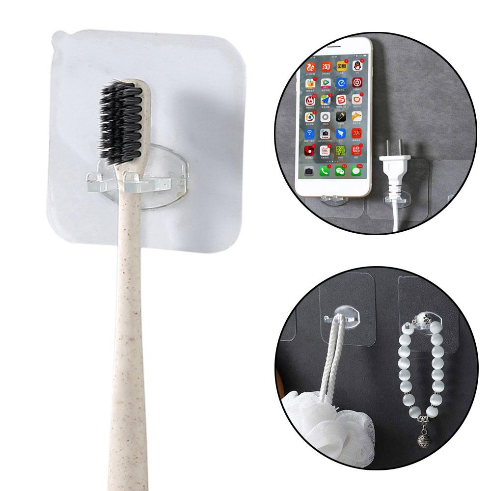Toothbrush Holder Transparent Travel Stand Toilet Shaver Organizer Kids Tooth Brush Storage Rack Bathroom Accessories Punch Free