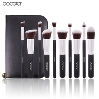 Docolor 10Pcs Pro Makeup Blending Blush Set Cosmetic Make Up Brushes Tool Black Soft Nylon Hair