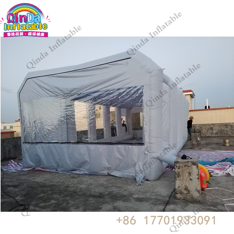 10m*5m*4m inflatable spray booth paint booth with exhaust fan portable used inflatable spray paint booth for sale denim supply ralph lauren new black floral drawstring strapless jumpsuit m $125