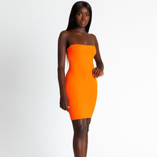 Women Sleeveless Spaghetti Strap Summer Dress Woman Fashion Casual Sheath Mini Orange Sexy Party Dresses Hot Selling Promotion