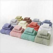 Pure Cotton Towel Set  Bath Square 3Pcs Per Househould Supplies