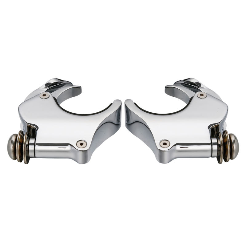 49mm Detachable Windshield Clamps Bracket For Harley Xl1200x Dyna Wide Street Fat Bob Super Glide Low Rider V-rod Vrsca Vrscx In Short Supply Windscreens & Wind Deflectors Automobiles & Motorcycles