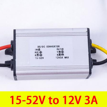 10Pcs DC Converter 15-52V to 12 V 3A Step Down Buck Module Voltage Regulator for Conversor Car Power Supply