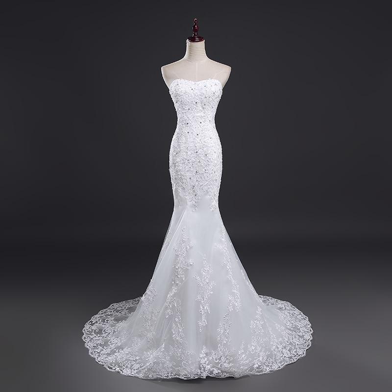 Fansmile Real Photo Vestidos De Novia Vintage Lace Mermaid Wedding Dress 2020 Plus Size Bridal Gowns Robe De Mariage FSM-385M