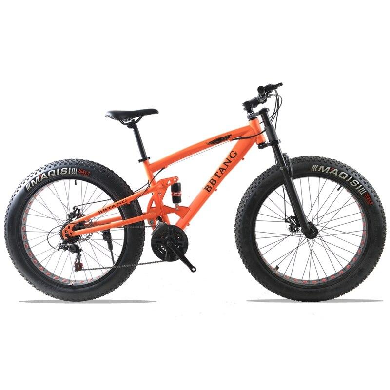 Жира велосипед 26x4.0 горный велосипед 21 скорость велосипеда фэтбайк дорожные велосипеды спереди и сзади механические дисковые тормоза Весна...