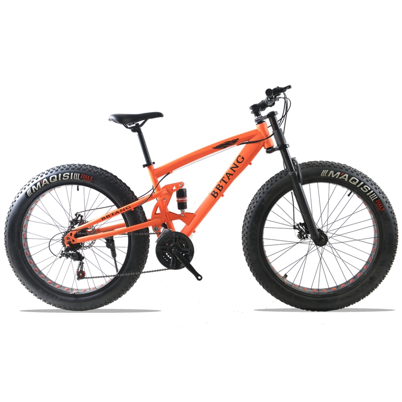 fat bike 26X4.0 mountain bike 21 speed bicycle road bicycles Front and Rear Mechanical Disc Brake Spring Fork 1 pair mountain road bike hydraulic brake kit 750 1350 mm mtb bicycle over 395 447 oil disc brake set front and rear bike parts