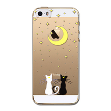 iPhone 5 5S SE 5C Cute Cat Soft Silicon Mobile Phone