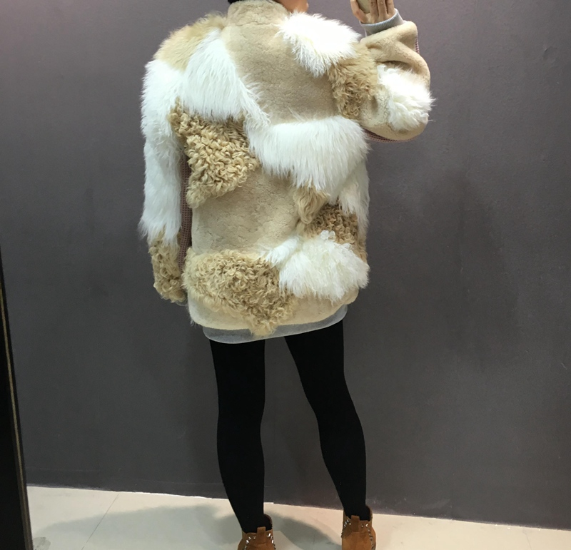 natural sheep fur coat real lamb fur (5)