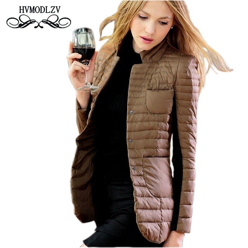 2017 automne hiver veste femmes Jaqueta feminina inverno grande taille costumes mince coton femmes manteau haut de taille slim veste femme LJ425