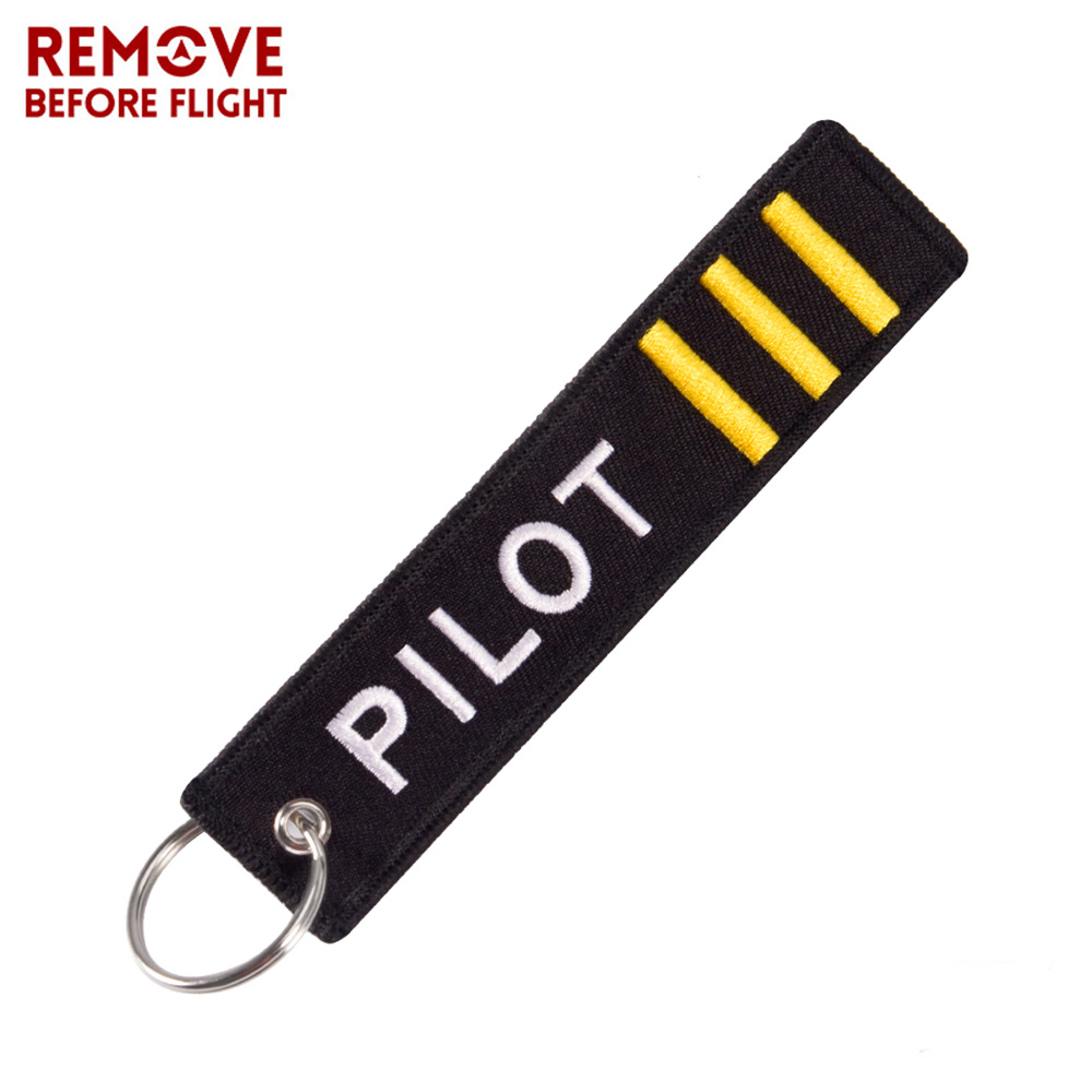 Remove Before Flight Keychain Jewelry Embroidery Co-Pilot Key Chain For Aviation Gifts Luggage Tag Label Fashion Keychains