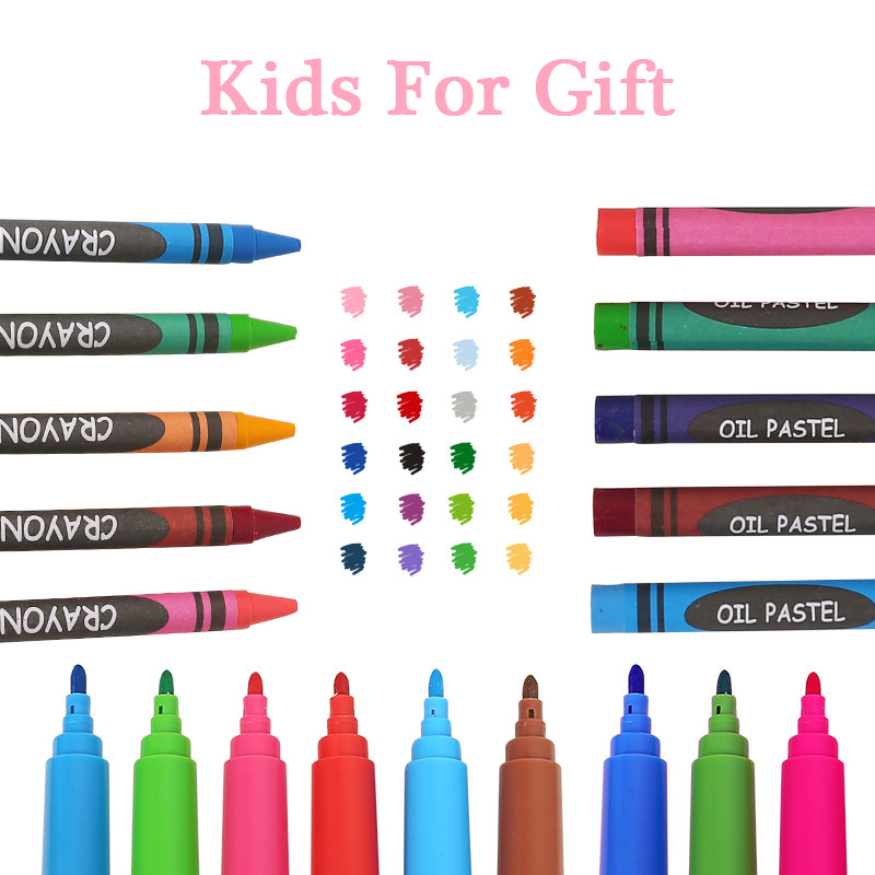 168pcs Children Luxury Drawing Art Sets Student Palette Box