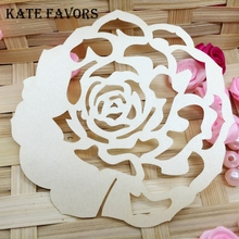 50pcs/lot Laser Cut Flower Table Name Cards Place Guest Names Mark Wedding Party Decoration Favors