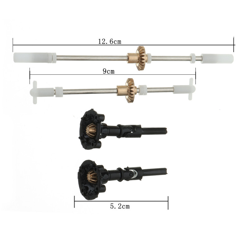 High Quality Metal Gear Bridge Axle Set For WPL B1 B24 B16 C24 1/16 4WD 6WD RC Car Body Spare Parts front diff gear differential gear for wltoys 12428 12423 1 12 rc car spare parts