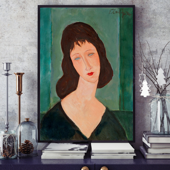 Modigliani Modern Women Canvas Painting Poster Print Wall Art Pictures For Living Room Bedroom Dinning Room Aisle Home Decor image