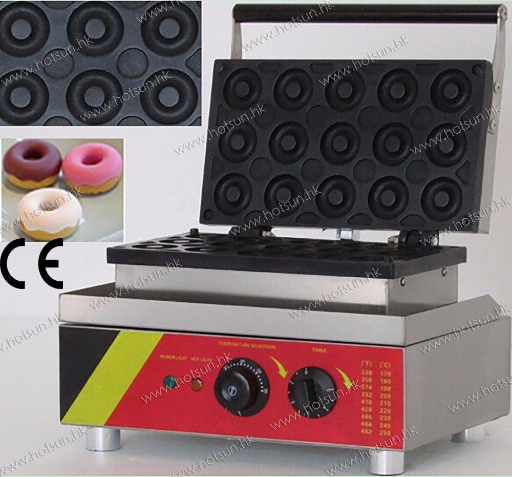 15pcs 110V 220V Electric Commercial Mini Donut Doughnut Machine Maker Iron Baker free shipping commercial non stick 110v 220v electric 15pcs donut doughnut baker maker iron machine