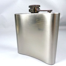 Portable 6oz Stainless Hip Flask Mini Metal Wine Bottle Drink for Drinker Alcohol Whiskey Liquor Screw Cap + Funnel