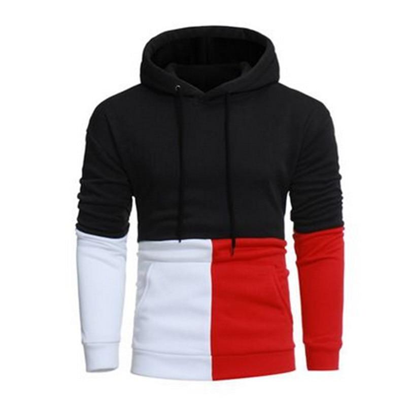 Men 2018 Brand Male Hip Hop Long Sleeve Solid Color Hooded Sweatshirt Mens Hoodie Tracksuit Sweat Coat Casual Sportswear