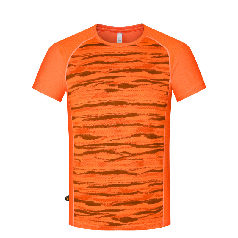 Summer Camo Quick Dry Outdoor Sport Hiking T Shirt Men Fishing Jogging Running T-shirt Short Sleeve O-neck Camping Camisa Hombre
