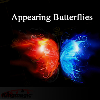 10pcs Magic Butterfly Appearing butterfly from empty silk magician trick magic Gimmick Stage Butterfly Magic tricks 1 set finger fire magic stage magic prop professional magic tricks magician gimmick illusion magic tool