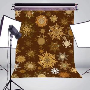 Image 3 - الأصفر ندفة الثلج خلفيات للتصوير الفوتوغرافي الأطفال استوديو الصور خلفية 5x7ft