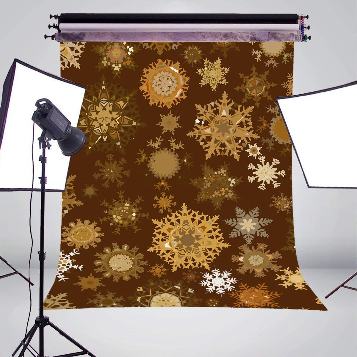Image 3 - Yellow Snowflake Photography Backdrops Children Photo Studio Wallpaper 5x7ft-in Photo Studio Accessories from Consumer Electronics