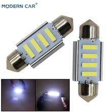 цена на MODERN CAR Interior Dome Lamps Canbus Error Free 31mm 36mm 4SMD 7020 LED Festoon Lamp Bulbs License Plate Lights Reading Light