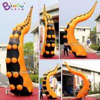Nach maß orange und schwarz aufblasbare krake tentakel/große aufblasbare tentakel für dekoration spielzeug|Aufblasbare Hüpfburg|   -