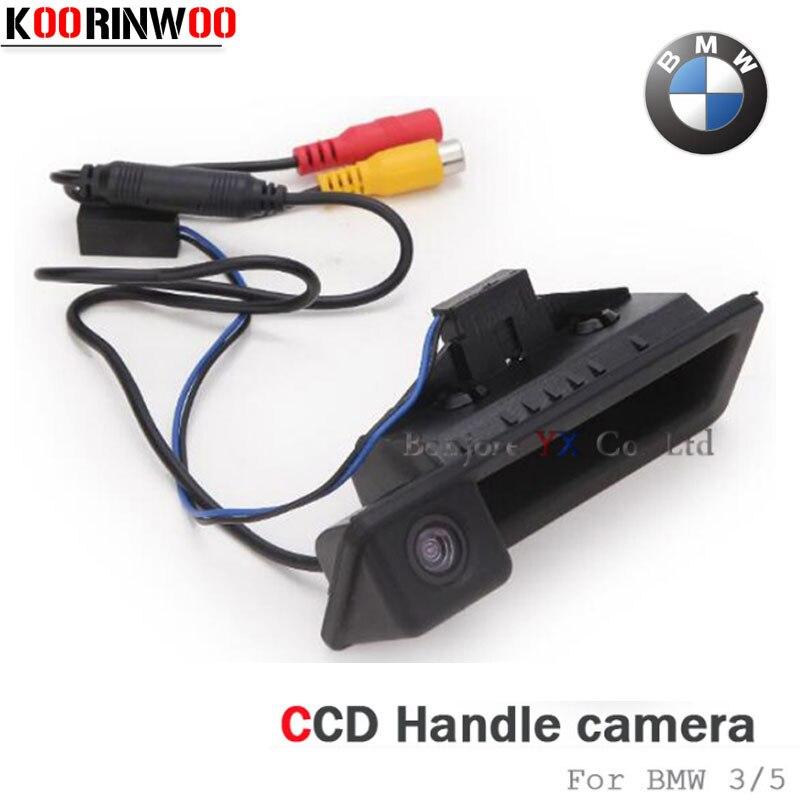 Câmera de visão Traseira Do Carro Tronco Koorinwoo Cam Para BMW 3/5 Series X5 X1 X6 E39 E46 E53 E82 E88 E84 e90 E91 E92 E93 E60 E61 E70 E71 E72
