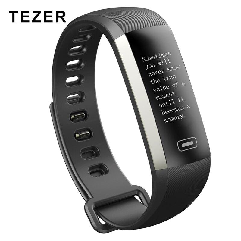 imágenes para TEZER R5MAX De Fitness inteligente Reloj Pulsera inteligente 50 palabra de visualización de Información heart rate monitor de presión arterial de oxígeno En La Sangre