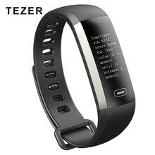 Tezer R5MAX Smart Фитнес часы-браслет интеллектуальные 50 слово информационный дисплей измерять кровяное давление пульсометр крови кислородом