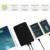 Allpowers más nuevo 30000 mah gran banco de potencia capacidad tableta del teléfono batería externa con 3 puertos de salida usb y 2 de entrada puertos.