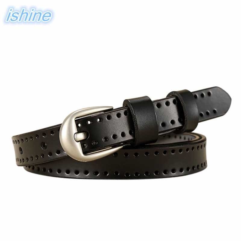 105/110/115CM Hot Women Genuine Leather   Belt   High-Grade Female Without Drilling   Belts   Black Femme   Belt   For Jeans Casual Pants
