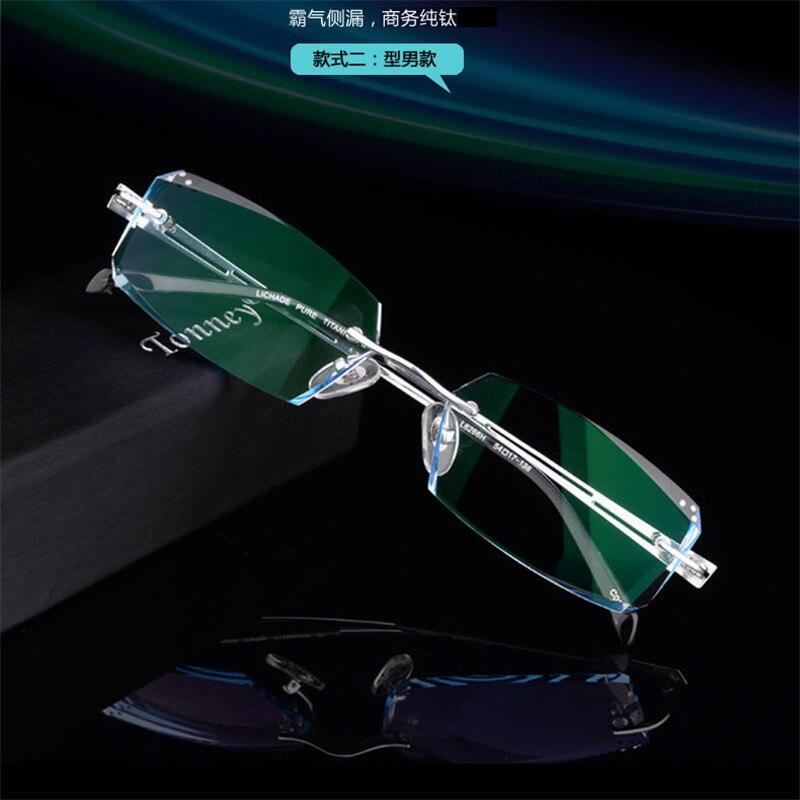 Herren-brillen Korrektionsbrillen Männer Diamant Trimmen Gläser Randlose Brille Mit Fertig Produkte Business Myopie Farbverlauf Augen Männlichen Modelle 109 SpäTester Style-Online-Verkauf Von 2019 50%