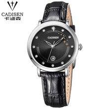 2016 Arrival quartz watch cadisen watches women luxury brand fashion women wristwatch dive 30m leather strap relogio feminino