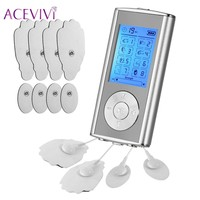 ACEVIVI 8 Modes Electrical Stimulator Full Body Relax Muscle Therapy Mini Massage Pulse Tens Acupuncture Health
