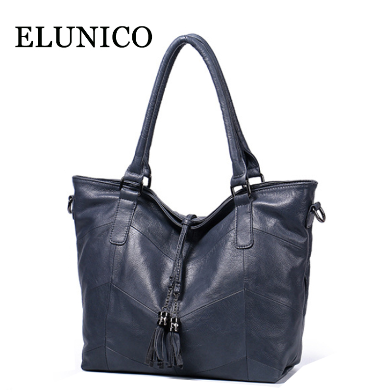 ELUNICO Spring 2018 New Genuine Leather Handbag Ladies Luxury Handbags Women Bags Designer Shoulder Bag Female Messenger Bags ladies genuine leather handbag 2018 luxury handbags women bags designer new leather handbags smile bag shoulder bag