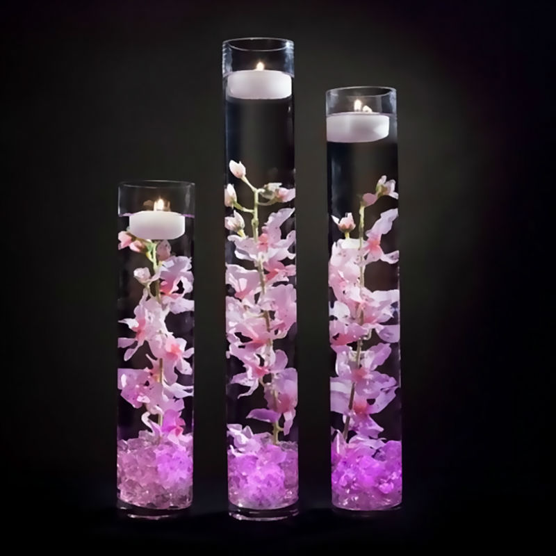 12pcs* RGB Submersible LED Light Waterproof Wedding Vase Decor Lamp Party Tea Light Candle Tea Light For  Home Decor