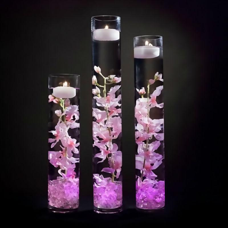 12pcs* RGB Submersible LED Light Waterproof Wedding Vase ...