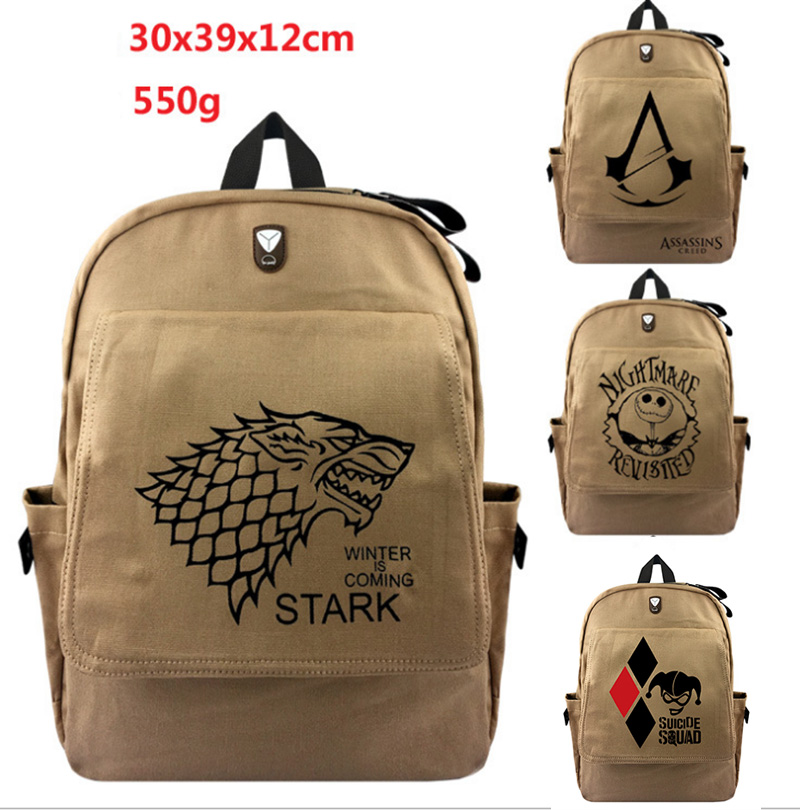 Game of Thrones Ice and Fire Backpack For Teenagers Men Women's Student Canvas School Bags Travel Shoulder Bag Knapsack Mochila a song of ice and fire
