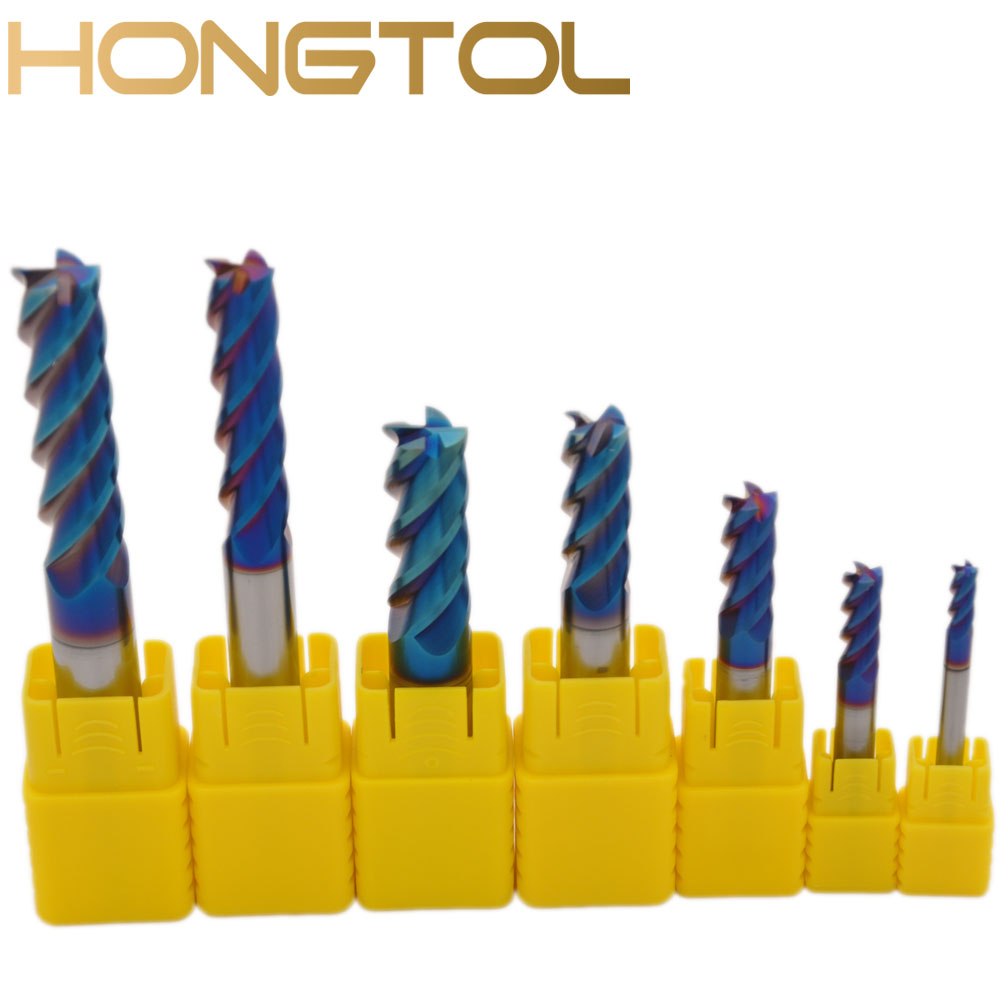 1pc Tungsten Carbide End Mill 4 Flutes CNC End Milling Cutter Tools For Face And Slot